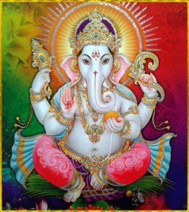 Ganesh, undanröjare av hinder. Bild lånad från Pinterestsidan Ganesh.