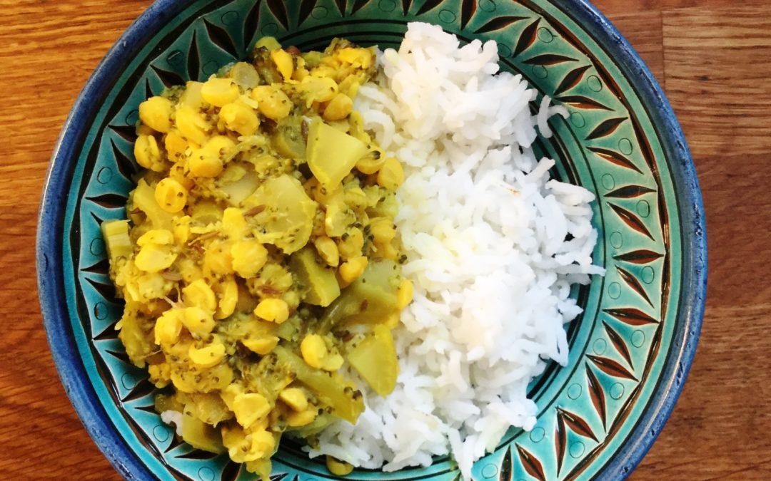 Recept: Ayurvedisk chana dal med broccoli