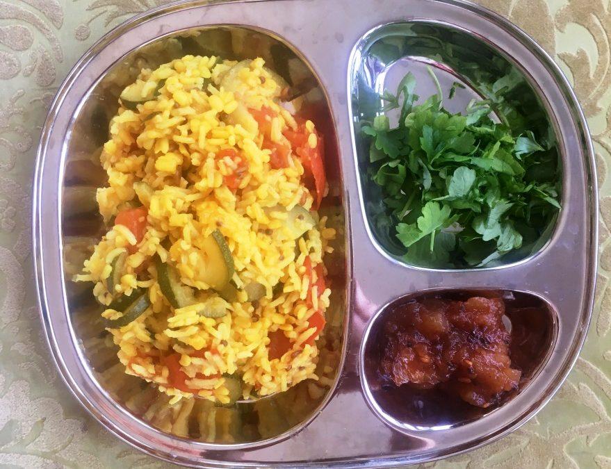 Recept: Snabbt  och färgglatt ris med grönsaker